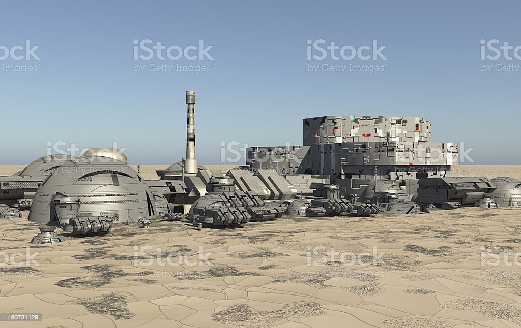Mars Remote Outpost stock photo