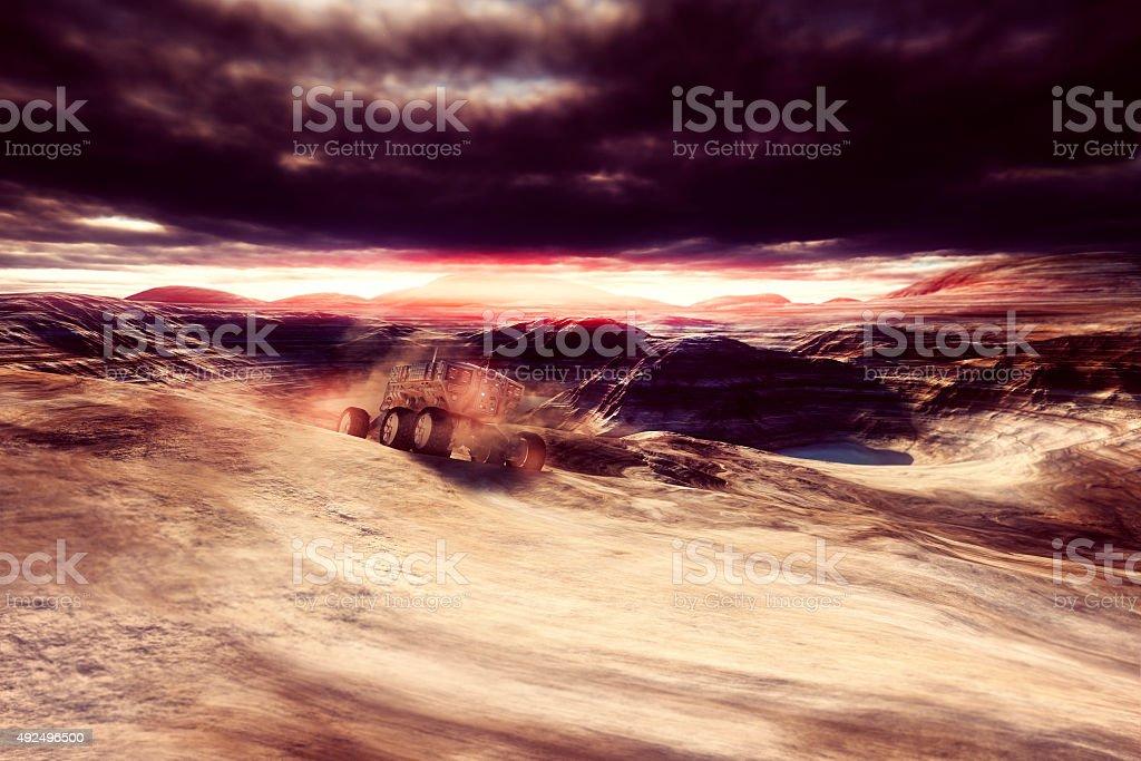 Mars terraforming and colonization stock photo