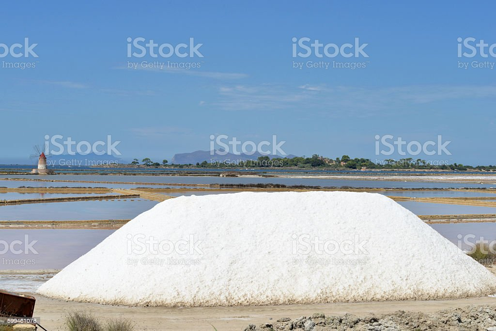 Saline Marsala stock photo