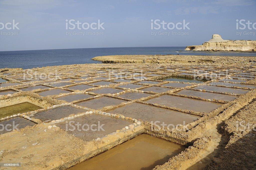 Marsalforn,Gozo,Maltese Islands. stock photo