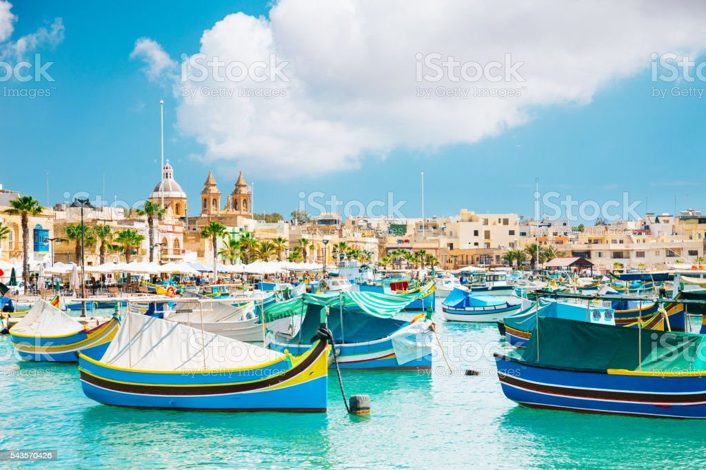 Marsaxlokk Harbor, Malta stock photo