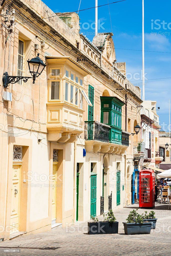 Marsaxlokk is a traditional fishing village located in the south stock photo