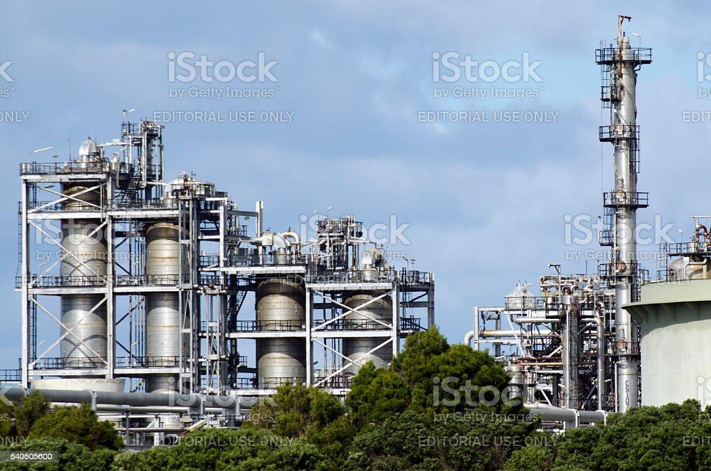 Marsden Point Oil Refinery stock photo