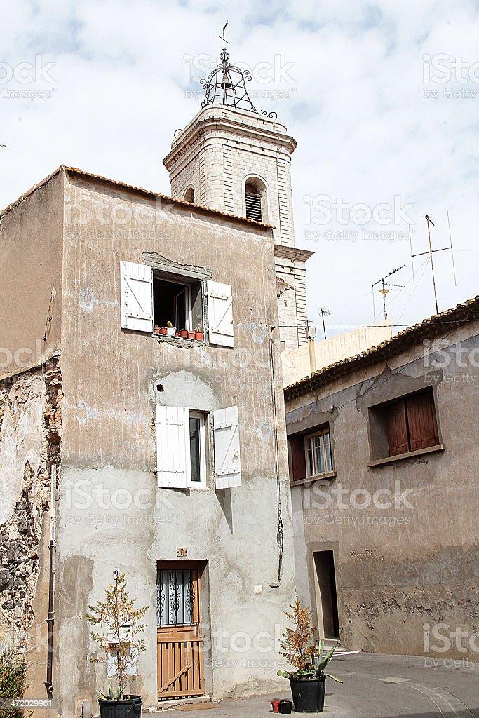 Marseillan edifici, Francia foto stock royalty-free
