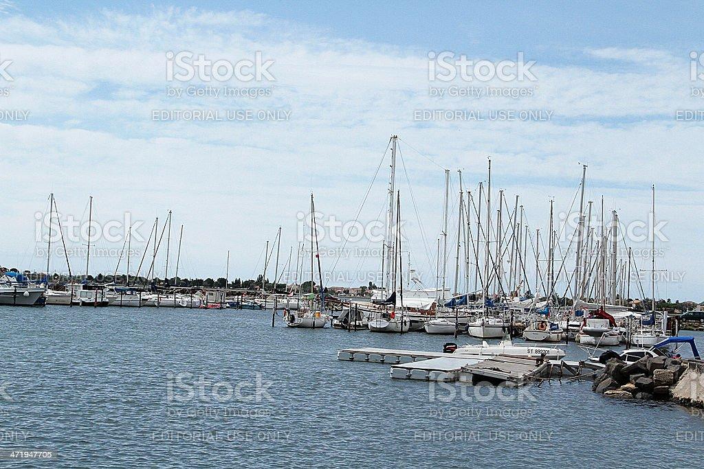 Marseillan Harbour in Francia foto stock royalty-free