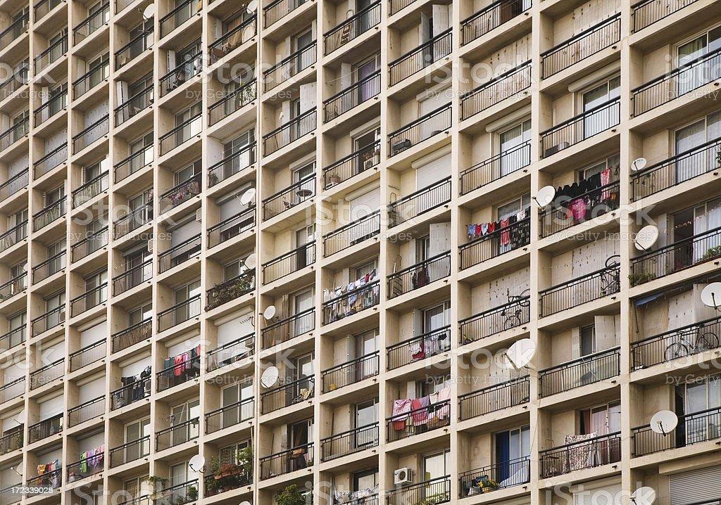 Marseille Apartments royalty-free stock photo