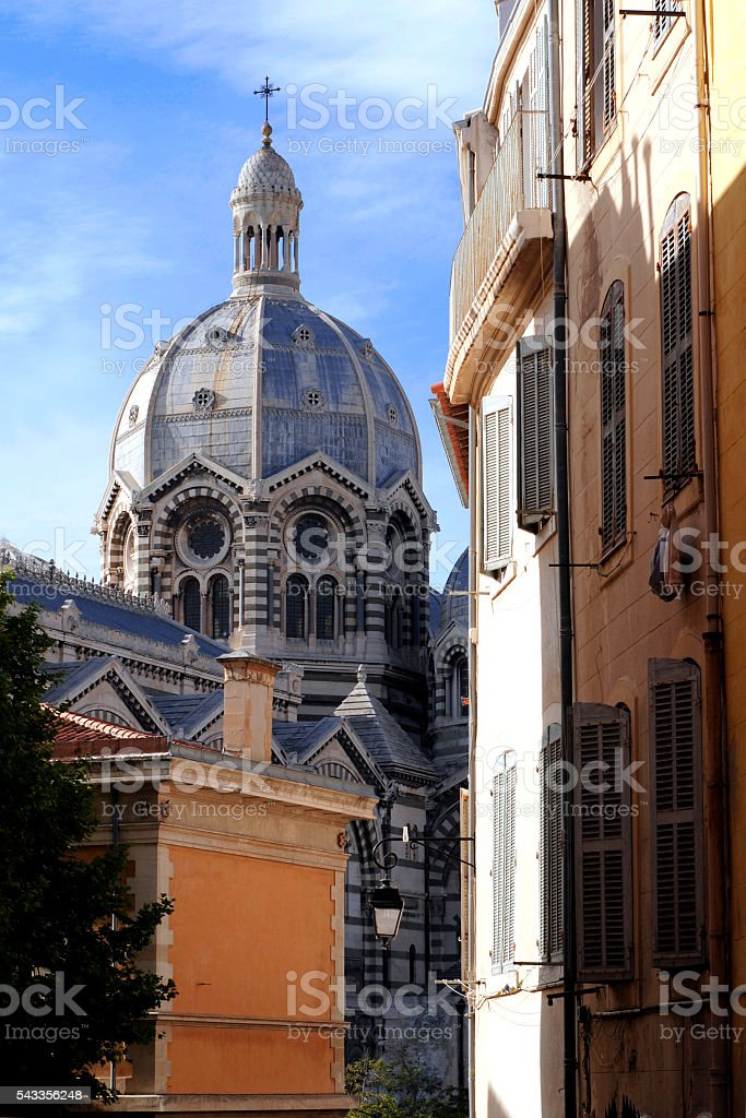Marseille Cathedral - is a Roman Catholic cathedral stock photo