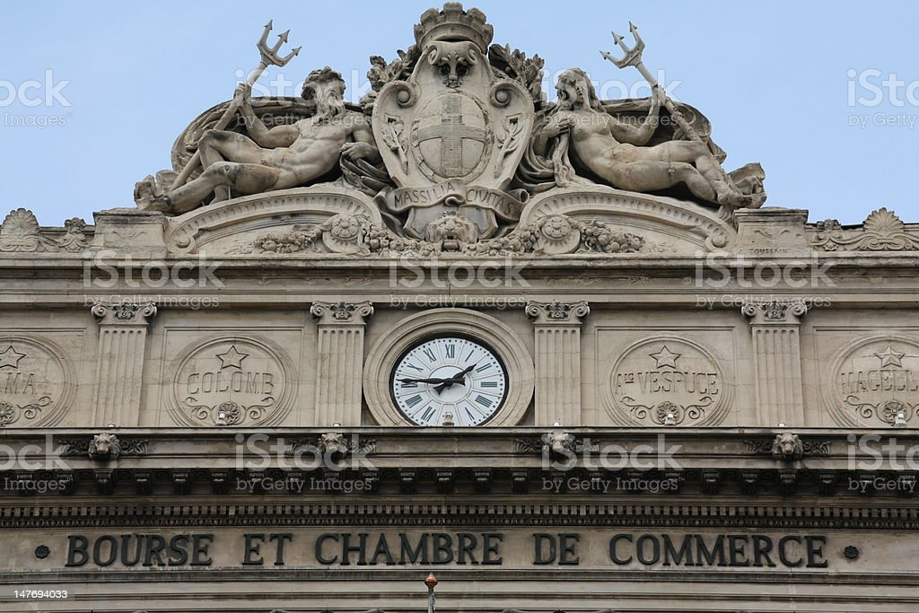 Marseille Stock Exchange and Chamber of Commerce royalty-free stock photo
