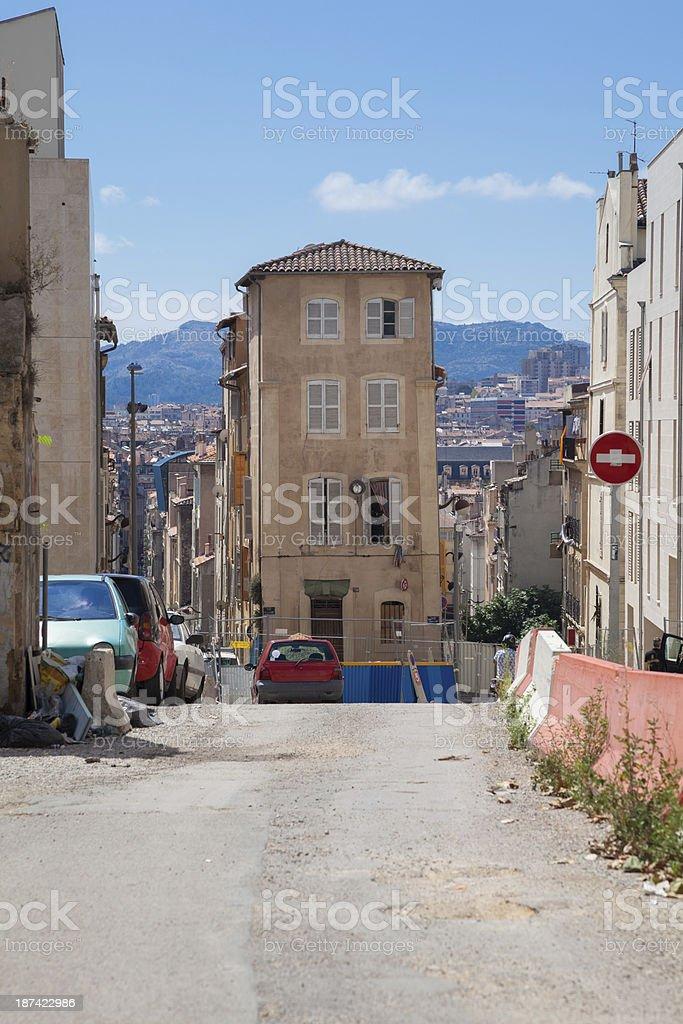 Marseille street stock photo