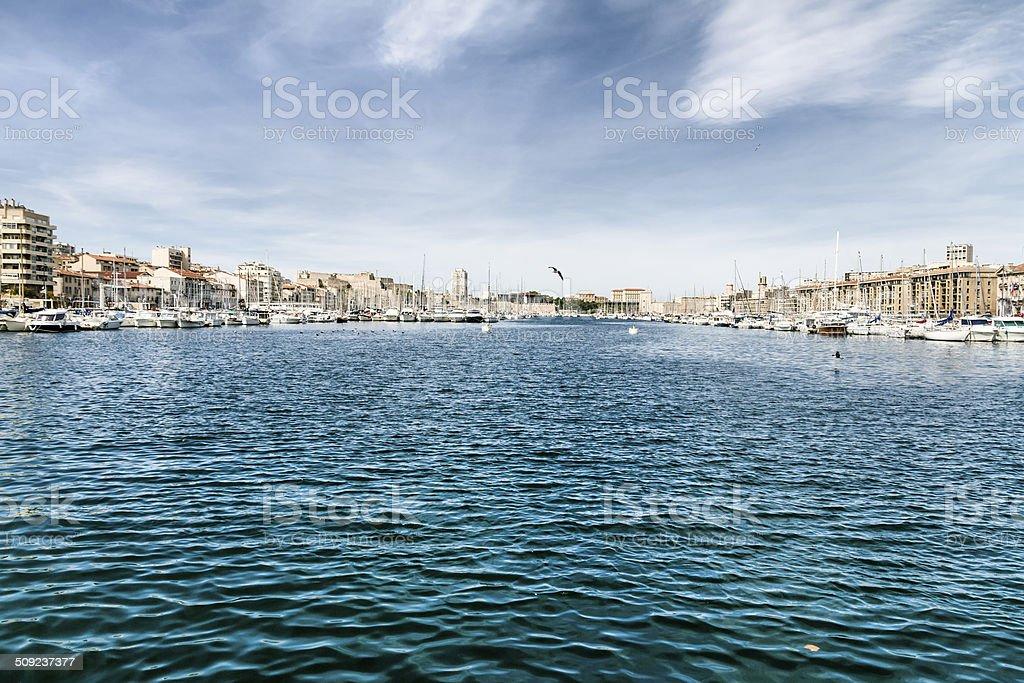 Marseille - The Vieux Port stock photo
