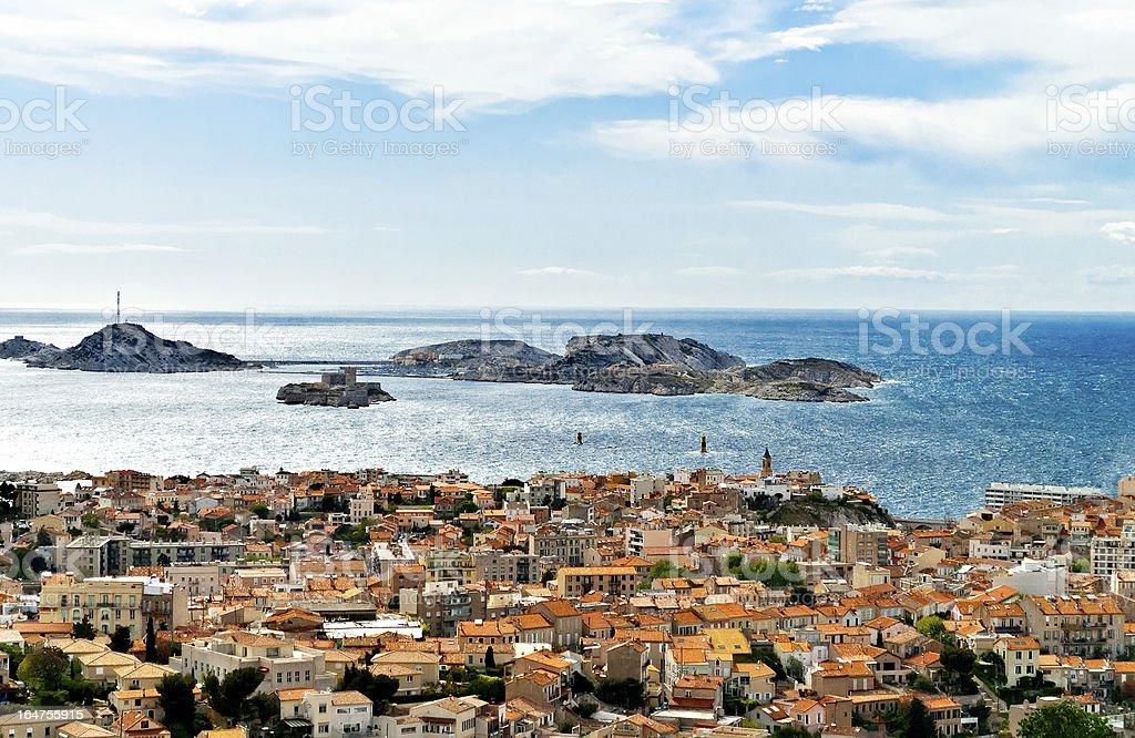 Marseille view royalty-free stock photo