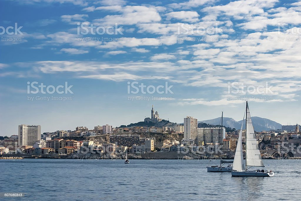 Marseille view stock photo