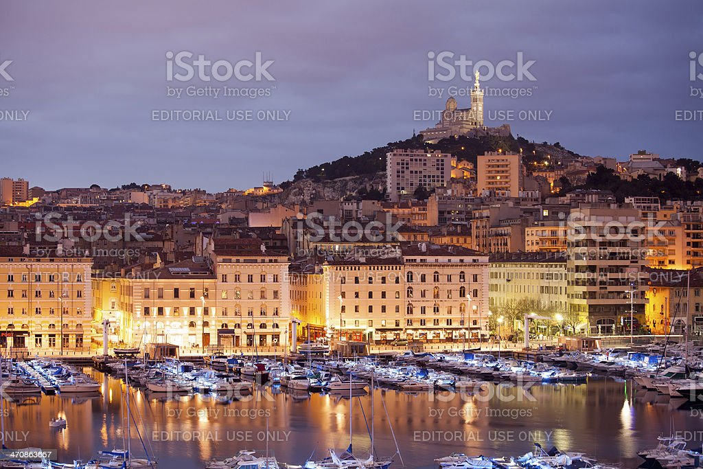 Marseilles at the evening stock photo