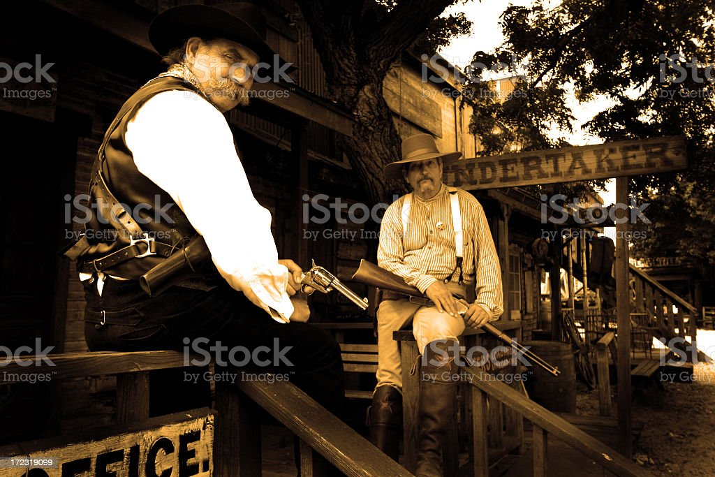 Marshal and Sheriff at the Undertaker royalty-free stock photo