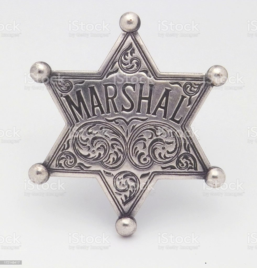 Marshal Badge stock photo