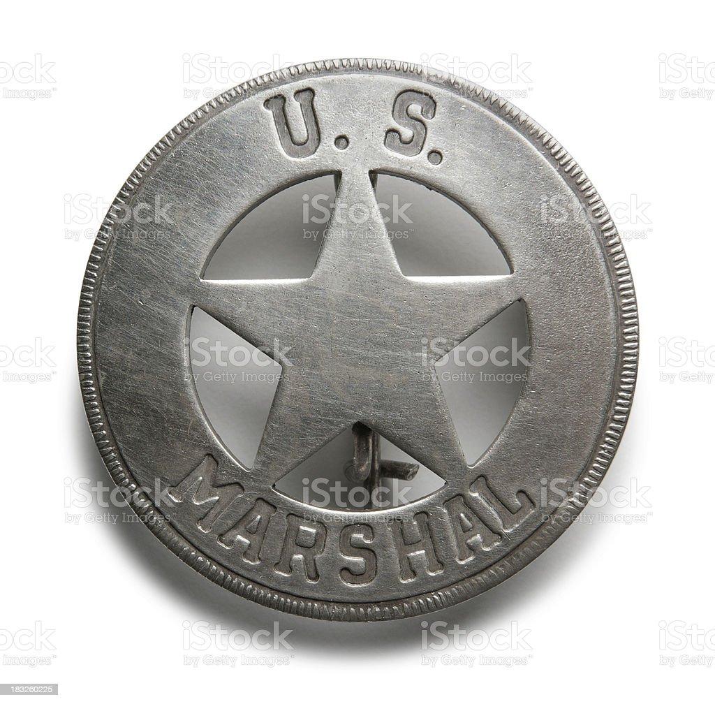 U.S. Marshal Badge royalty-free stock photo