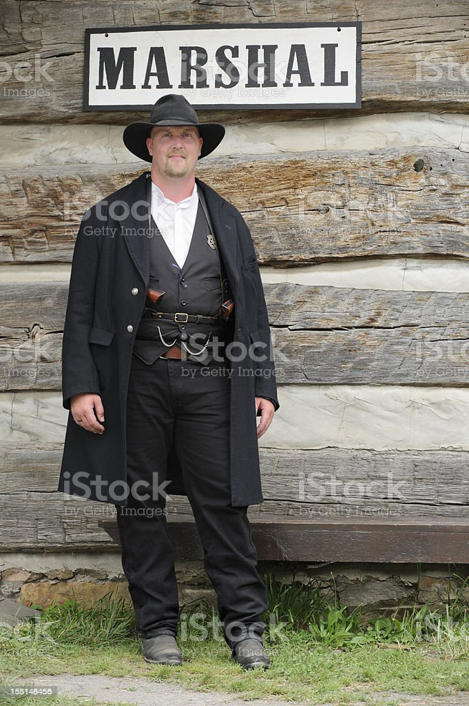 Marshal of the Old American West, Sheriff stock photo