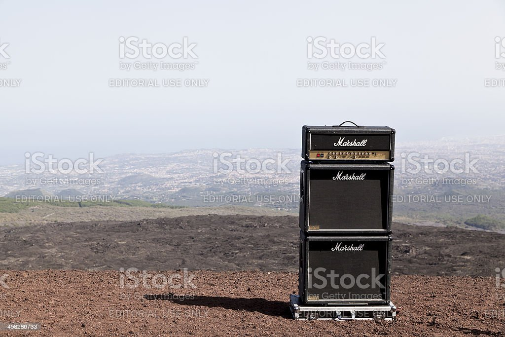 Marshall Amplifier royalty-free stock photo