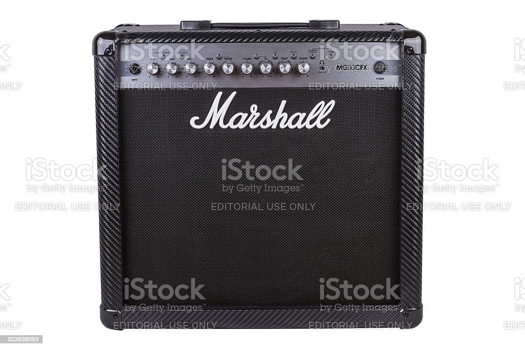 Marshall Amplifier stock photo