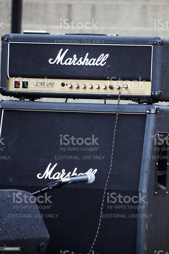 Marshall Amplifyer stock photo