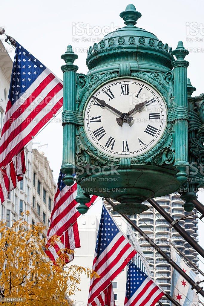 Marshall Field's Great Clock stock photo