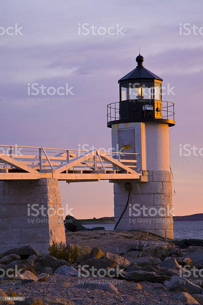Marshall Point Light royalty-free stock photo