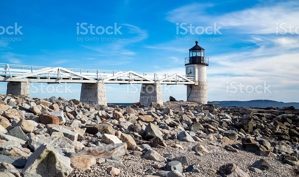 Marshall Point Light stock photo