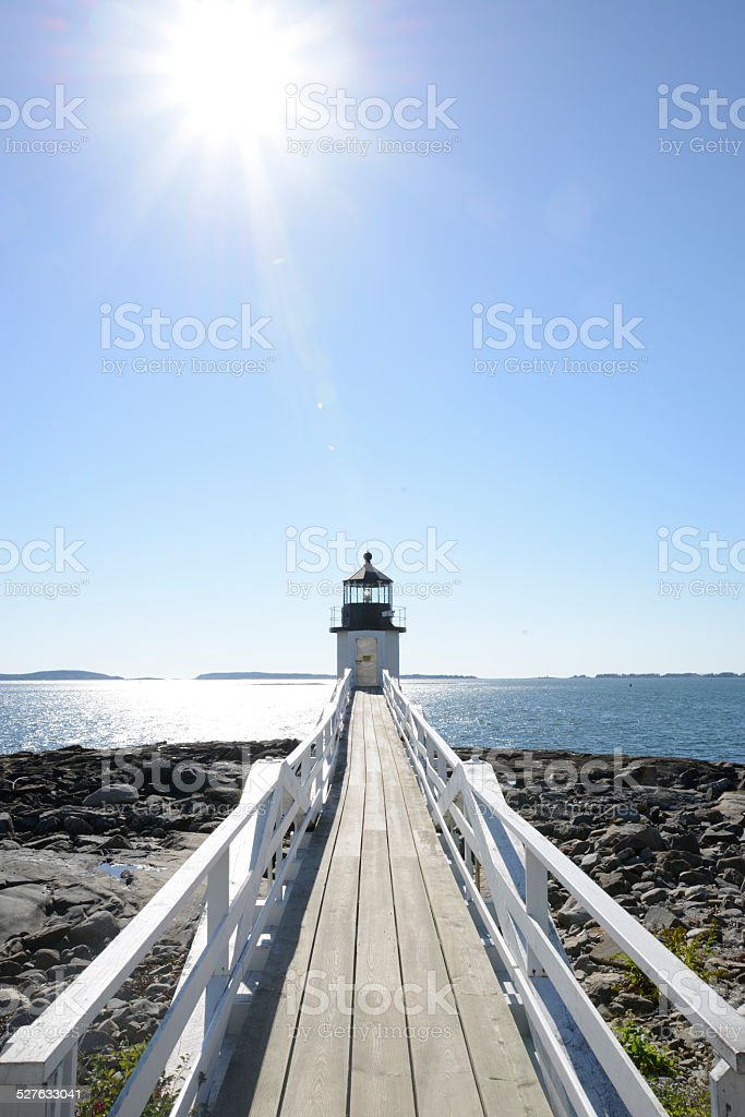 Marshall Point Lighthouse in Maine stock photo