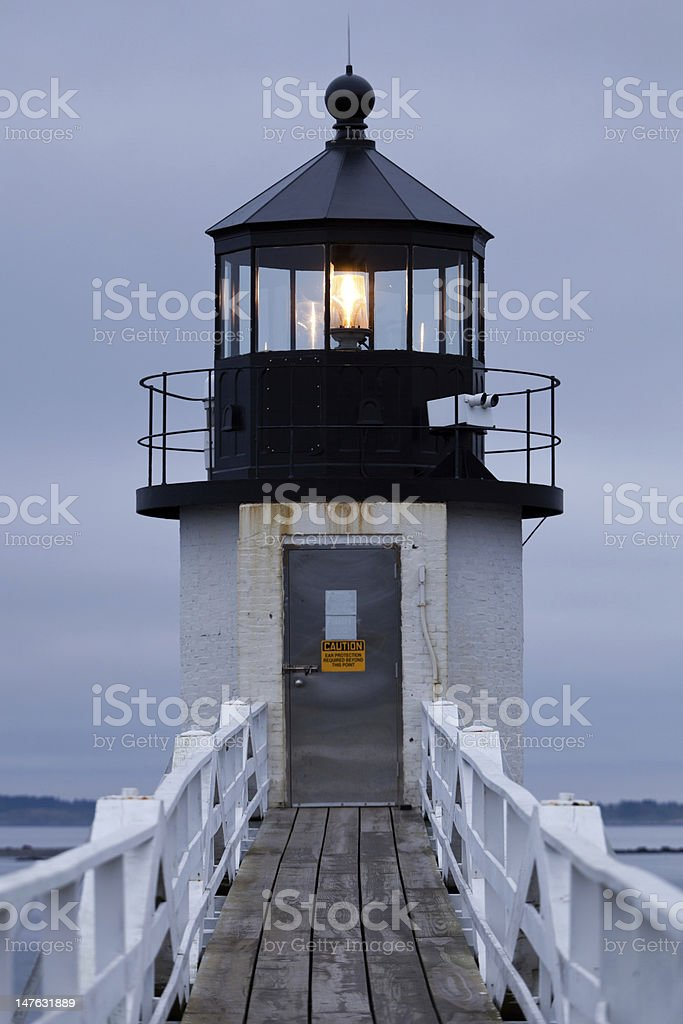 Marshall Point Lighthouse, Maine, USA royalty-free stock photo