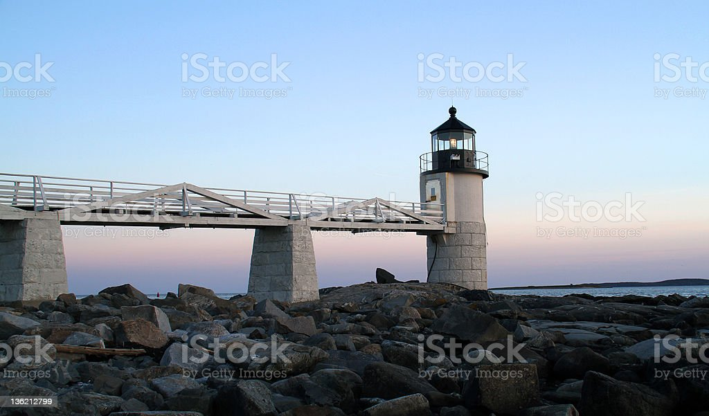 Marshall Point Lighthouse, ME stock photo