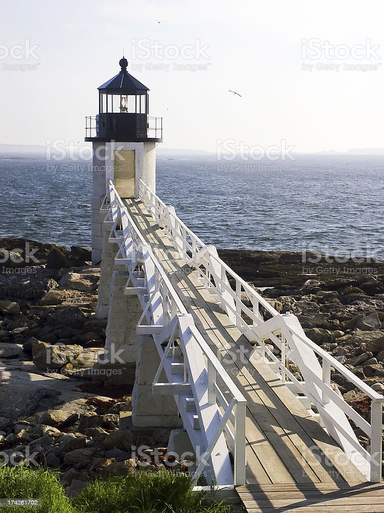 Faro di Marshall Point foto stock royalty-free