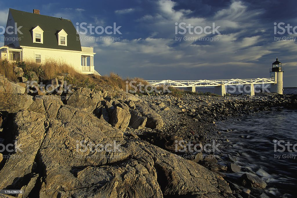 Marshall Point Lighthouse stock photo