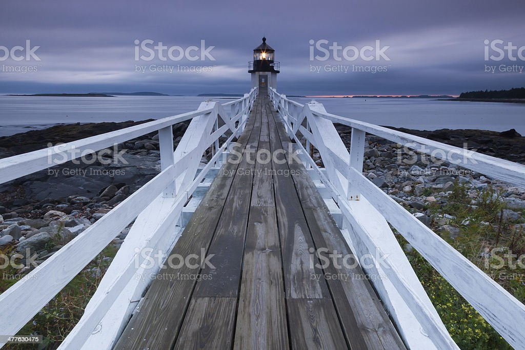 Marshall Point Lighthouse royalty-free stock photo