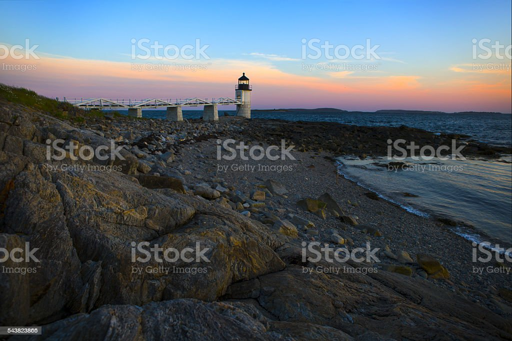 Marshall Point Lighthouse, Port Clyde, Maine stock photo