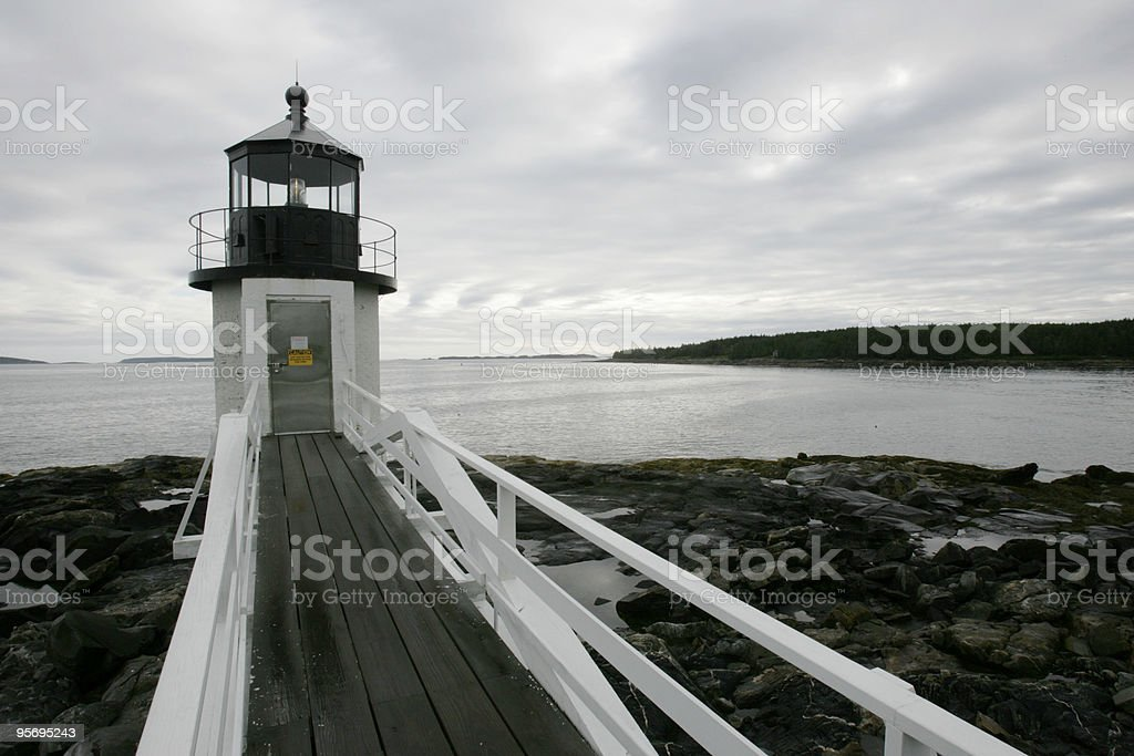 Marshall Point Lighthouse, Port Clyde, Maine royalty-free stock photo
