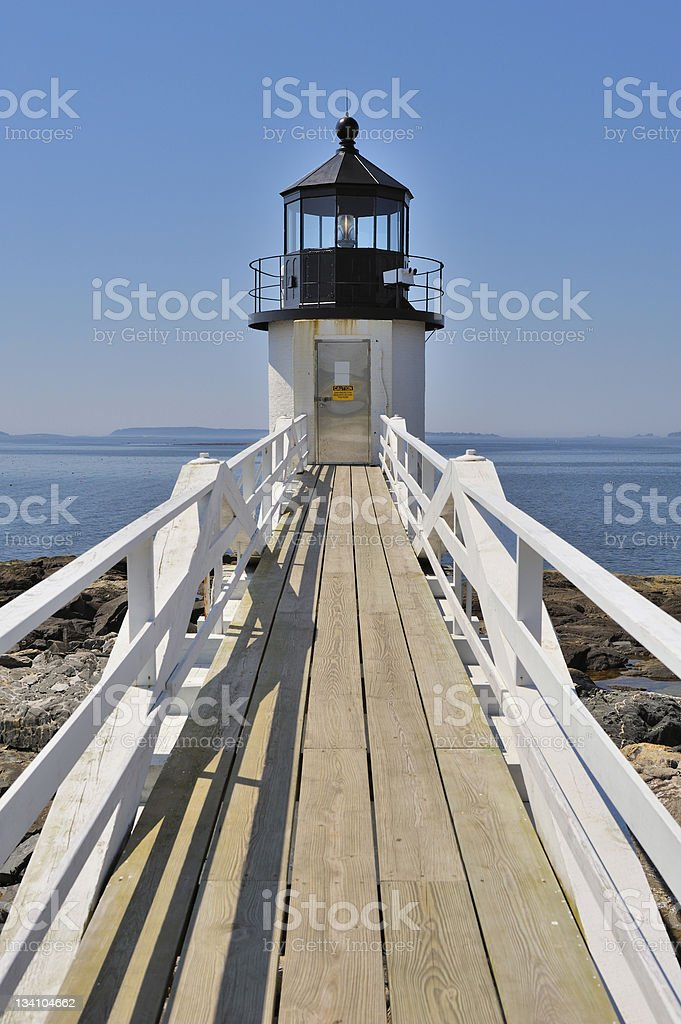 Marshall Point Lighthouse, Port Clyde, Maine, USA royalty-free stock photo