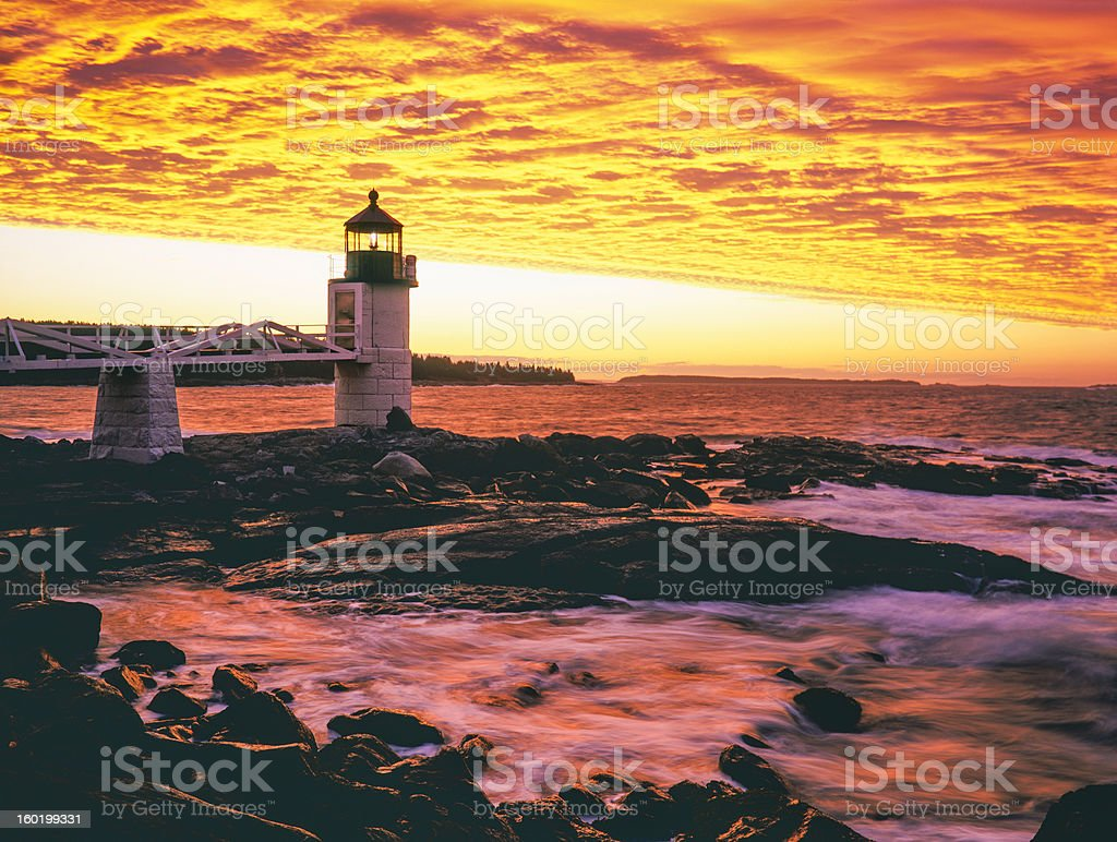Marshall Point Lighthouse,Maine royalty-free stock photo