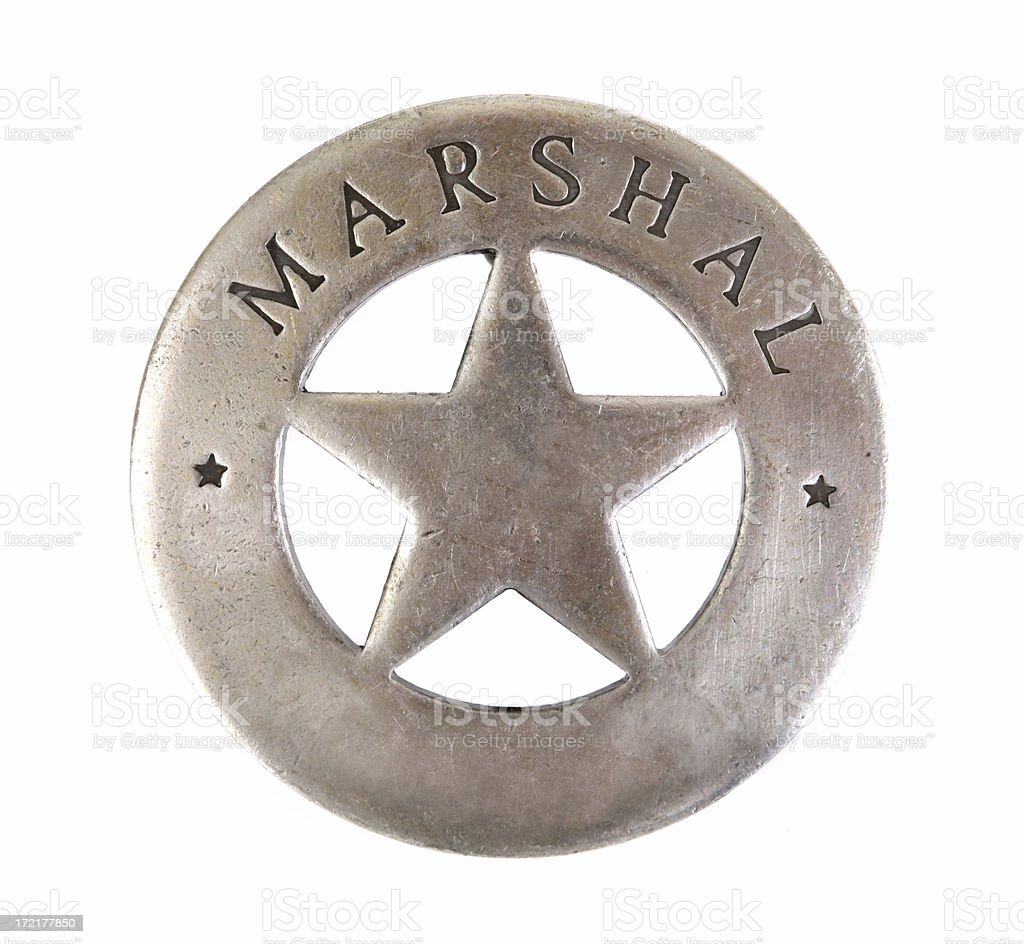 Marshall Sheriff Star Badge stock photo