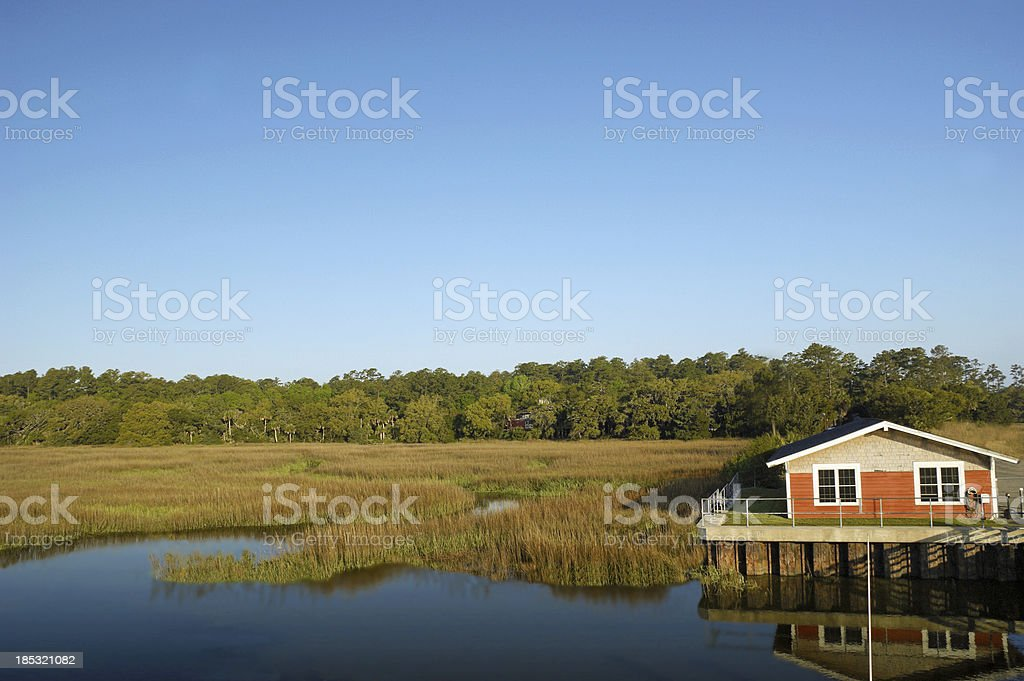Marshlands St. Simon's Island Georgia stock photo