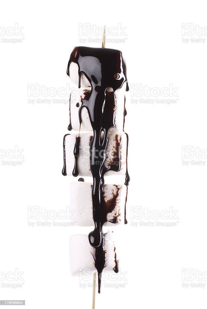 Marshmallow Chocolate stock photo