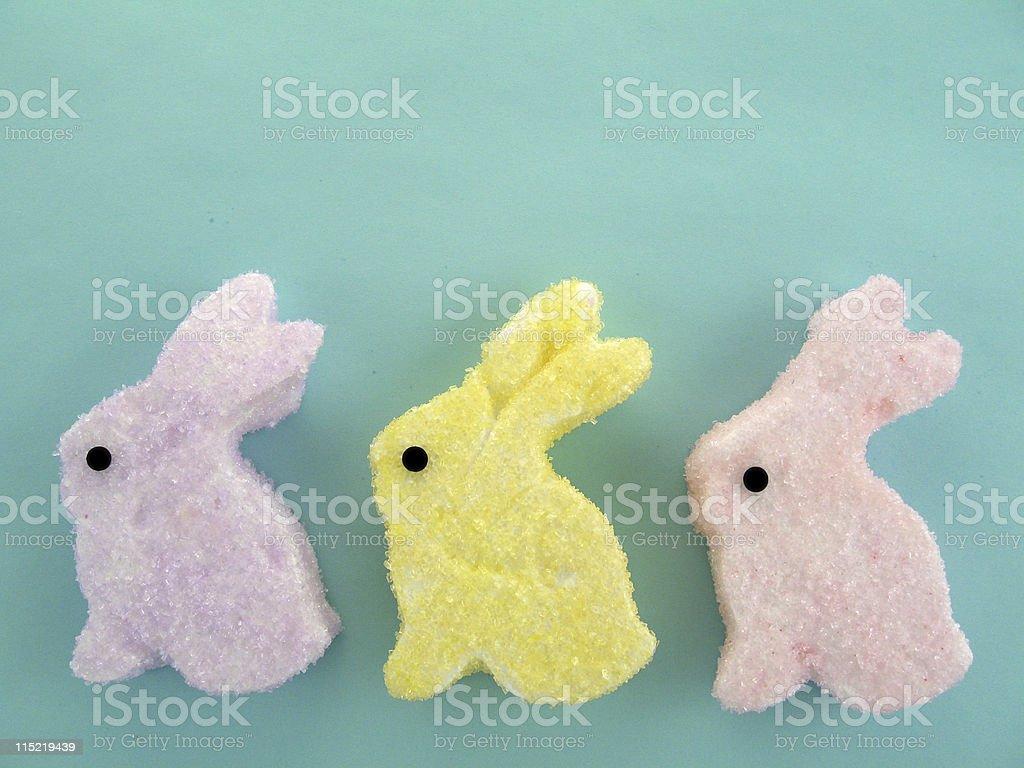 Marshmallow Easter Bunnies stock photo