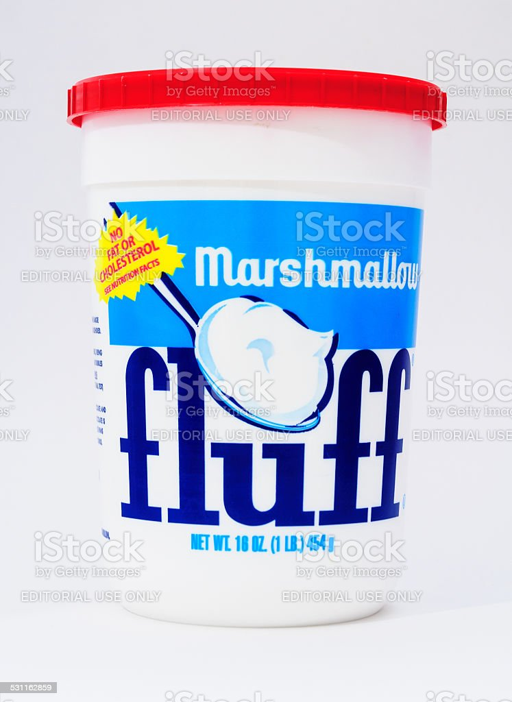 Marshmallow Fluff stock photo
