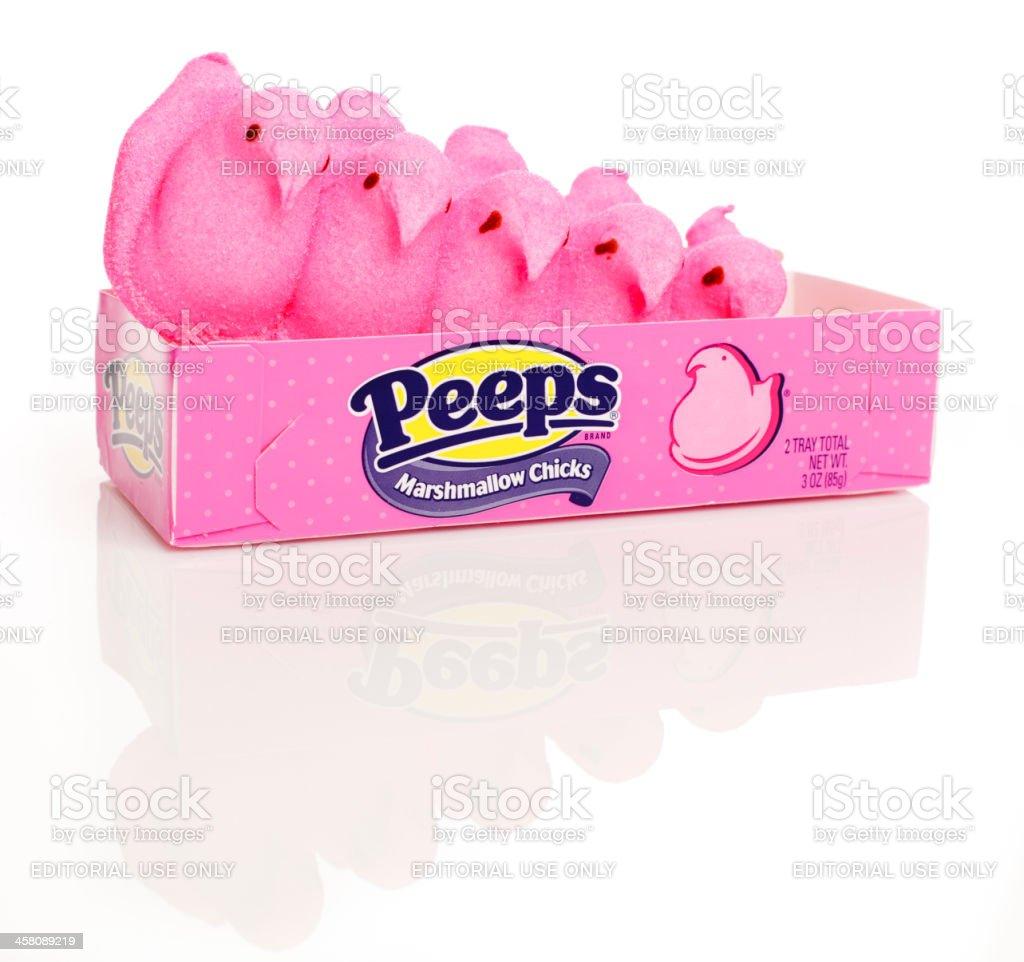 Marshmallow Peeps stock photo