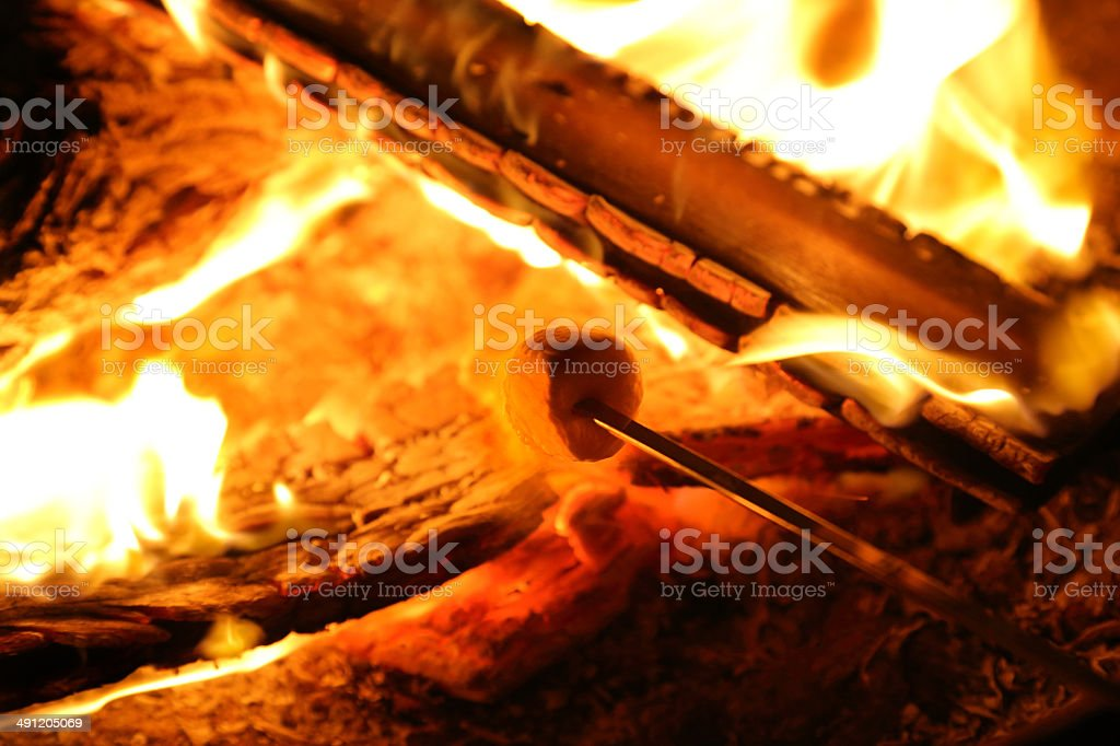 Marshmallow Toasting stock photo