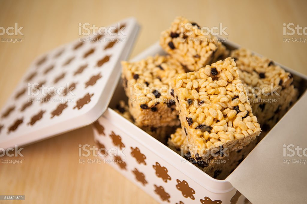 Marshmallow treats stock photo
