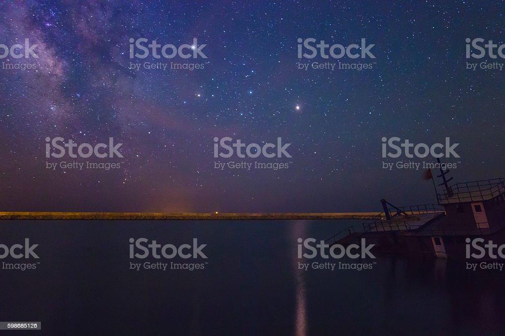 Marslit Night stock photo