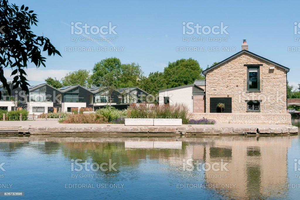 Marsworth contemporary housing development stock photo