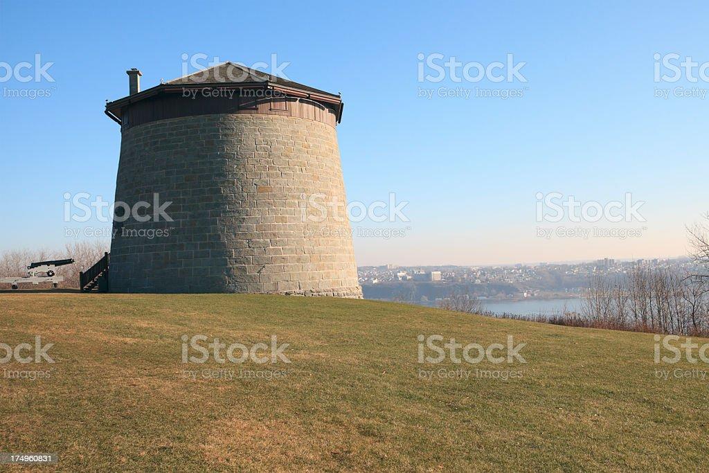 Martello Tower Quebec stock photo