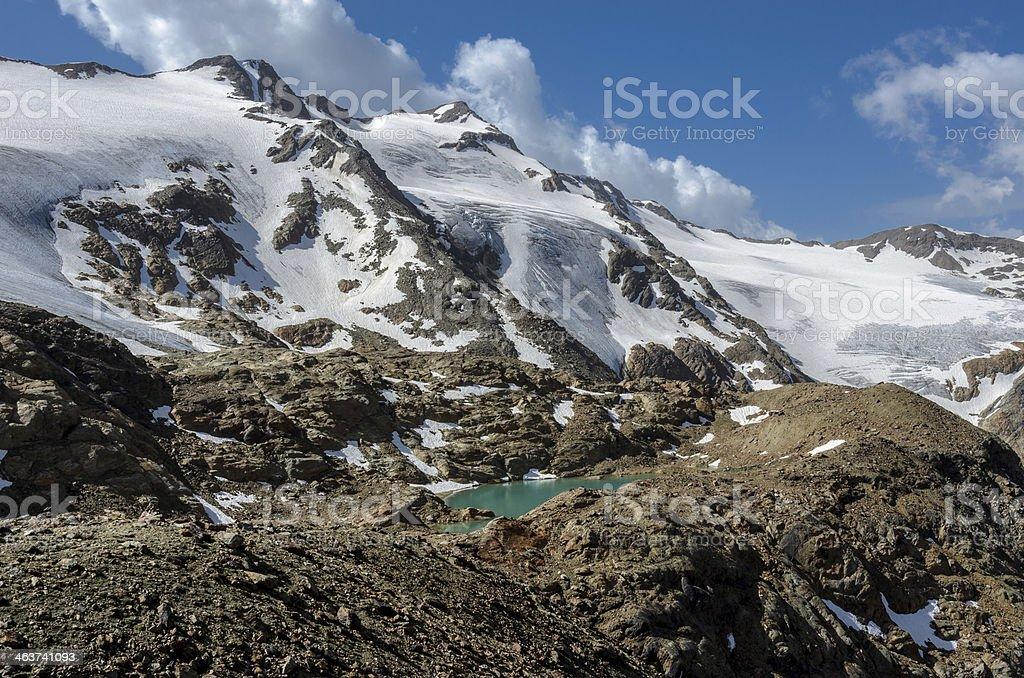 Martelltal Gletschersee stock photo
