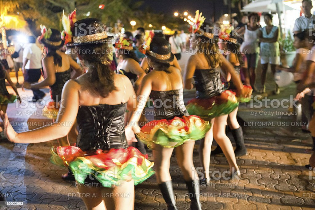 Martes de Carnaval , the Mardi Gras Parade in Mexico royalty-free stock photo